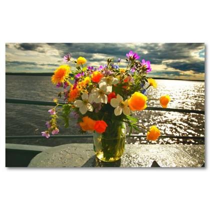 Αφίσα (λουλούδια, χρώμα, λουλούδια, φύση)